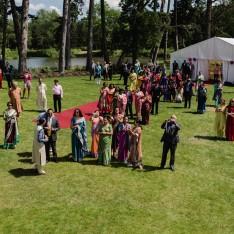 Marquee Wedding Reception by Lake at Brook Farm Cuffley
