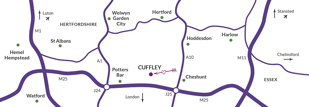 Brook Farm Cuffley Map