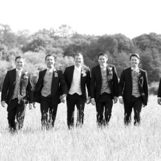 Groomsmen Wedding Photo at Brook Farm Cuffley