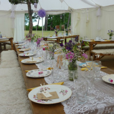 Internal View of wedding yurt at Brook Farm Cuffley