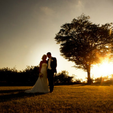Wedding Sunset Shot at Brook Farm Cuffley