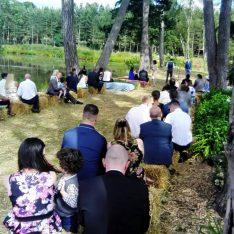 Straw Bale Wedding Blessing at Brook Farm Cuffley