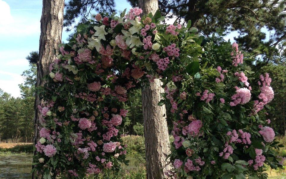 Flower Arch - Blessing at Brook Farm Cuffley