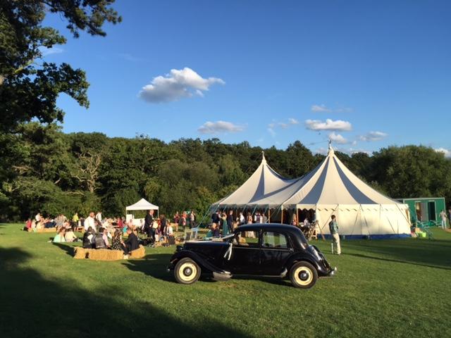 Blue & White Big Top - Brook Farm Wedding