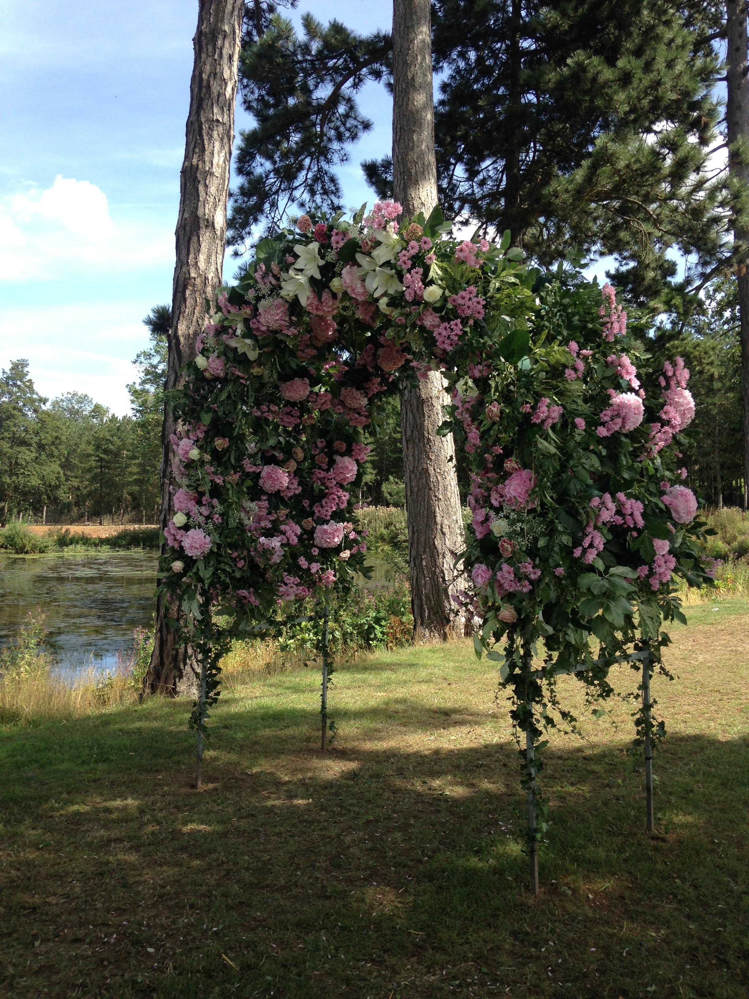 Flower Arch - Wedding at Brook Farm